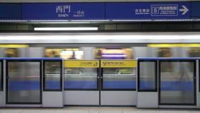 Taipei tunnelbanaXimen station HD arkivfilmer