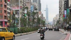 Taipei Uliczna scena Blisko Wschodniej bramy Handlarskiego terenu HD zbiory wideo