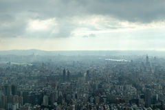 Taipei under Heavy Clouds Stock Photos