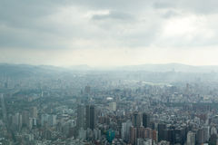 Taipei under Heavy Clouds Royalty Free Stock Images