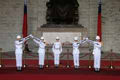 Taipei zhongzhengtang soldiers handover ceremony Stock Photo
