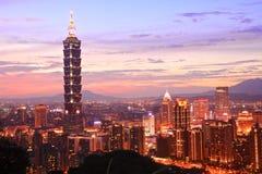 Taipeien 101, Taiwan Arkivfoto