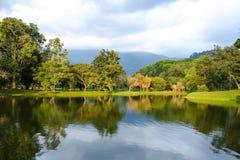 Taiping日落的,太平,马来西亚湖庭院 库存图片