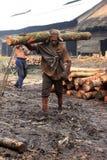 Trabajador del carbón de leña Imagen de archivo libre de regalías