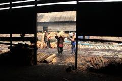 Trabajador del carbón de leña Imagen de archivo