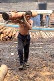 Lavoratore del carbone Immagini Stock Libere da Diritti