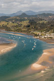 Tairua river estuary on Coromandel Peninsula Stock Photography