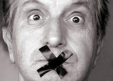 Tais-toi ! Images stock