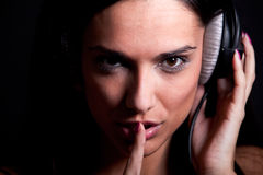 Tais-toi et écoutez photos stock