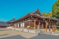 Taisahiden hall at Shitennoji Temple in Osaka, Japan Stock Photos