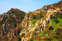 Taishan Mountain,a famous landscape of China. Taishan mountain , China`s first five mountains, China`s famous mountain, 1524 meters high , located in Tai`an city royalty free stock photography