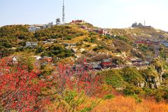 Taishan Mountain,a famous landscape of China. Taishan mountain , China`s first five mountains, China`s famous mountain, 1524 meters high , located in Tai`an city royalty free stock images