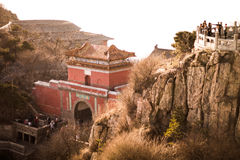 Taishan mountains. In Shandong province, next to Taian city Royalty Free Stock Photo