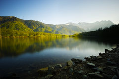 TAISHOIKE Pond and the Peaks of the Hotakas, Nagano Prefecture/J Stock Image