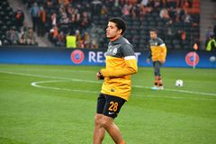 Taison antes do fósforo da Champions League Foto de Stock