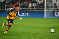 Taison avant la correspondance de la Champions League Photos stock