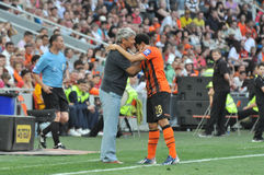 Taison comunicate with coach Stock Photo