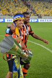 Taison and Fernando with cup Stock Photos