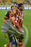 Taison and Fernando with the cup Royalty Free Stock Photo