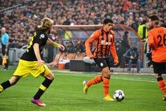 Taison i matchen mot Borussia Dortmund Arkivbilder