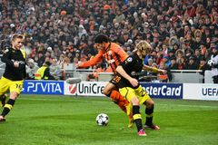 Taison in the match against Borussia Dortmund Royalty Free Stock Photo