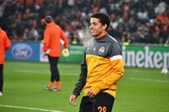 Taison before the match of the Champions League Stock Image