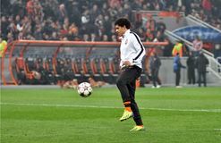 Taison playing with the ball Royalty Free Stock Photography