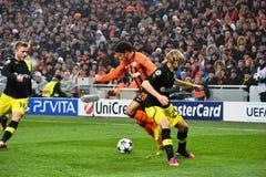 Taison w dopasowaniu przeciw Borussia Dortmund Zdjęcie Royalty Free