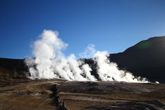 Taito Geysers. High in Andes, Chile Royalty Free Stock Photos