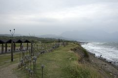 Taitung seashore park windy day Taiwan Stock Photo