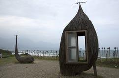 Taitung seashore parka wietrzny dzień Tajwan Zdjęcie Stock