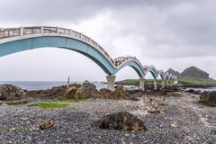 Sanxiantai is located in the north of Chenggong Township in Taitung County. it is compsed of offshore islands and coral reefs. royalty free stock image