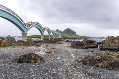 Sanxiantai is located in the north of Chenggong Township in Taitung County. it is compsed of offshore islands and coral reefs. royalty free stock photo