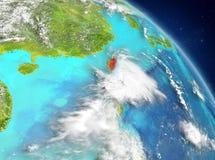 Taiwán de la órbita stock de ilustración