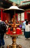 Closeup Incense burner of Longshan Temple in Taiwan. Taiwan - Apr 15, 2017, Editorail use only; Closeup Incense burner of Longshan Temple in Taiwan royalty free stock photos
