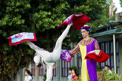 Taiwan,435 Art Zone,Circus performing. New Taipei City, Taiwan - OCT 17, 2015: circus player performing in 435 Art Zone in Banqiao District Stock Image