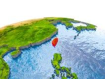 Taiwan auf Modell von Erde Lizenzfreies Stockbild