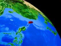 Taiwan auf Planet Erde lizenzfreie abbildung