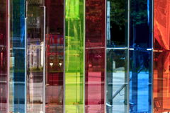 Taiwan beauty - City views - colored glass wall. In Taiwan, Taichung City Royalty Free Stock Photo