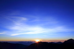 Taiwan beauty - Hehuan Mountain sunrise. Taiwan beauty - Hehuan Mountain Position in Hualien, Taiwan, Taroko National Park Stock Photo