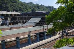Taiwan, Besichtigungsstellen, Affekatzen-Katzendorf, Bahnstation Stockbild