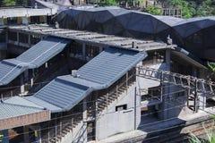 Taiwan, Besichtigungsstellen, Affekatzen-Katzendorf, Bahnstation Lizenzfreie Stockfotos