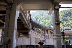 Taiwan, Besichtigungsstellen, Affekatzen-Katzendorf, Bahnstation Stockbilder