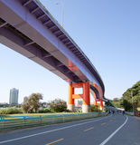 Taiwan bridge bike path Royalty Free Stock Photo