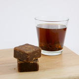 Taiwan brown sugar ginger tea cubes Royalty Free Stock Photo