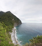 Taiwan Ching Shui Cliff panorama. In Taroko National Park in hwalien royalty free stock photography
