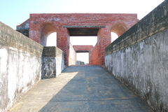 Taiwan : Cihou Fort. Cihou Fort or Cihou Battery is a historic fort in Cijin District, Kaohsiung, Taiwan, formerly guarding northern entrance to Kaohsiung Harbor royalty free stock photography