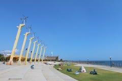 Taiwan : Cijin Wind Turbine Park Royalty Free Stock Images