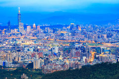 Taiwan city. From mountain view point Royalty Free Stock Photography