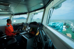 Taiwan Coast Guard Captain Stock Photography